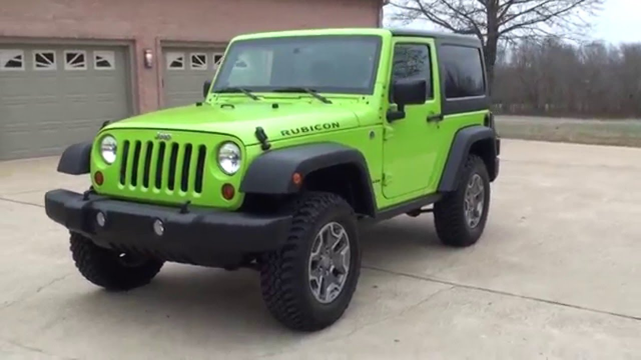 Perfect HD VIDEO 2013 JEEP WRANGLER RUBICON GECKO GREEN FOR SALE SEE  WWW.SUNSETMOTORS.COM   YouTube
