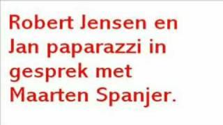 Robert Jensen Bied Maarten Spanjer taart aan.