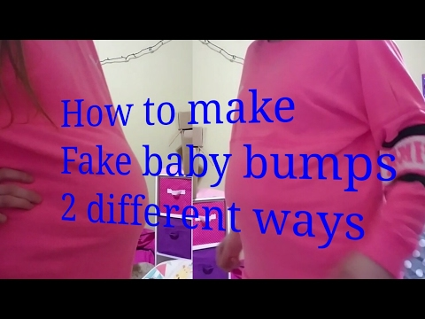 How To Make A Fake Baby Bump (2 Different Ways) /Mackenzie Reborns