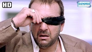 Sanjay Dutt runs ahead of trains blindfold scene from Luck [2005] - Hindi Action Movie