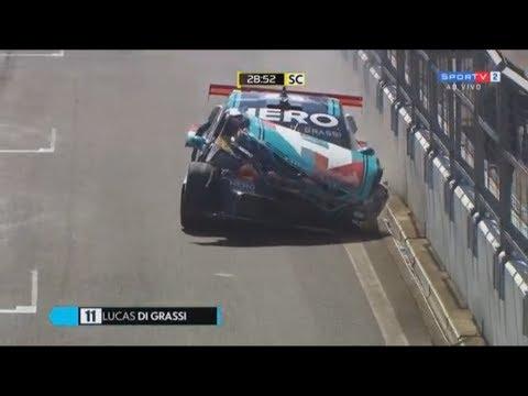 Stock Car Brasil 2018. Race 1 Autódromo do Velopark. Lucas Di Grassi Crash
