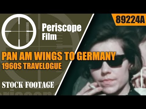 1960s PAN AM AIRLINES TRAVELOGUE  WINGS TO GERMANY BERLIN 89224
