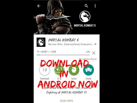 How To Download MORTAL KOMBAT X In Android + Links