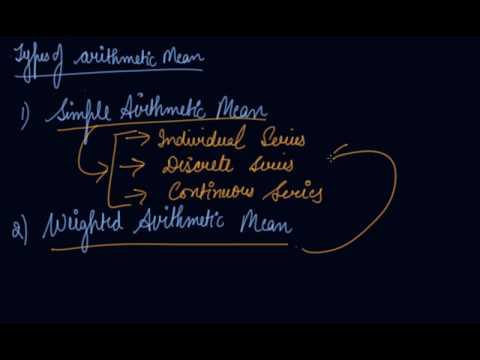 Types of Arithmetic Mean , Merits & Demerits | Class 11 Economics Measures of Central Tendency