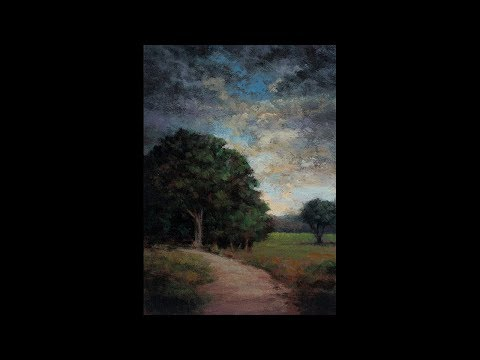 Approaching Storm Redo 5×7 Tonalist Landscape Oil Painting Demonstration 1 Min