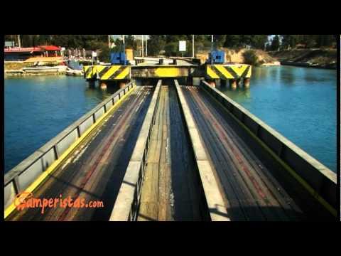 Corinth Canal sinking bridges - Il ponte sommergibile di Corinto