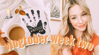 spooky reading vlog | VLOGTOBER