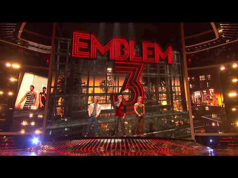 Emblem3 X factor 2012 All  with edited and improved sound HD 720