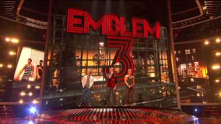 Repeat youtube video Emblem3 X factor 2012 (All songs with edited and improved sound) (HD 720)