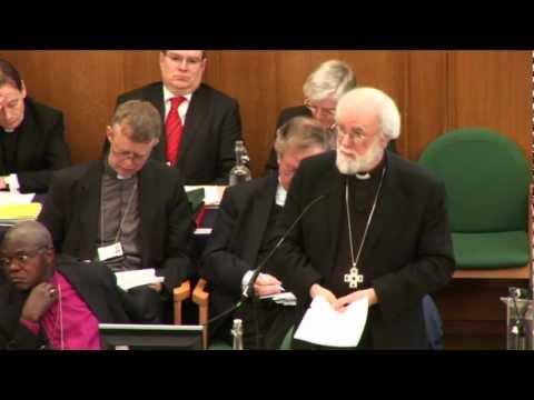 Archbishop Rowan Williams Speaks On Women Bishops