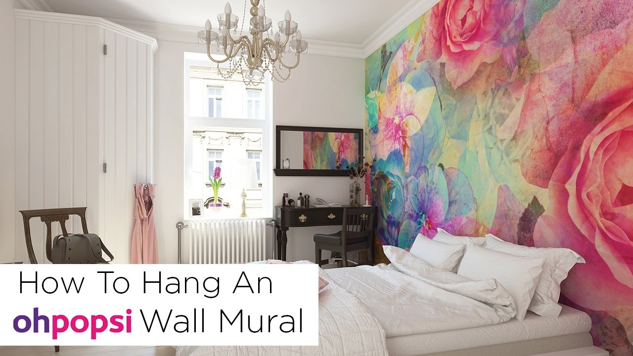 How To Hang an ohpopsi Wall Mural YouTube