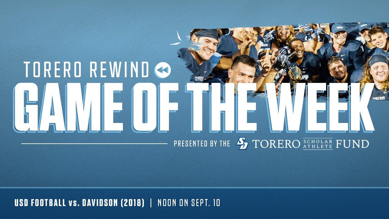 Torero Rewind Game of the Week | USD Football vs. Davidson (2018)