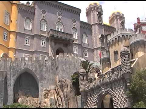 Recantos históricos de Portugal: Santarém, Sintra e Queluz.
