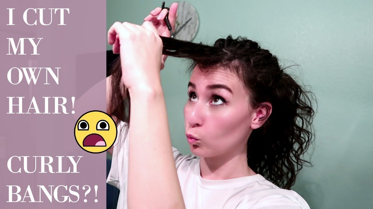 CUTTING MY CURLY HAIR AT HOME