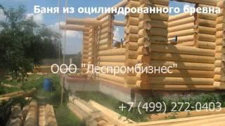 Баня из оцилиндрованного бревна