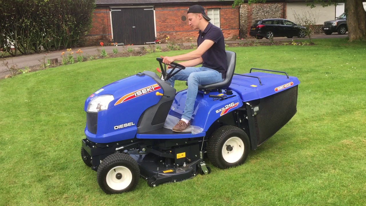the iseki sxg 216 ride on lawn tractor youtube. Black Bedroom Furniture Sets. Home Design Ideas