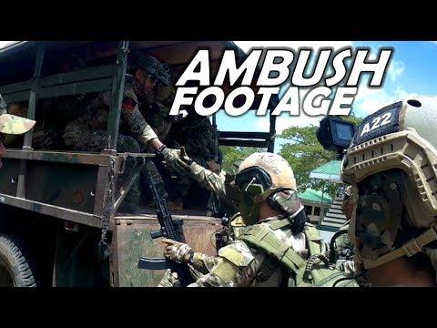 Intense Ambush Footage in Philippines   Helmet Cam