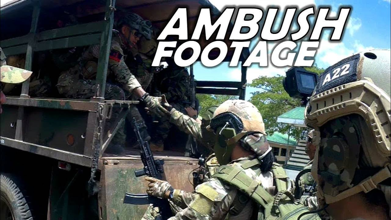 Intense Ambush Footage In Philippines
