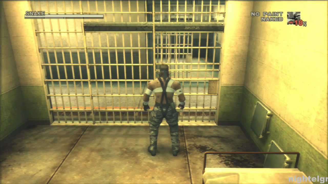 metal gear solid 3 talk with johnny and escaping prison cell youtube