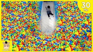 Indoor Playground Fun for Kids and Family Play  Slide Colors Rainbow Balls | MariAndKids Toys