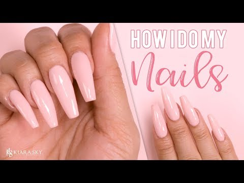 💅🏼How To Do Your Own Nails At Home! 😍Fake Nails At Home💅🏼 - No E-File Needed😱 ✅