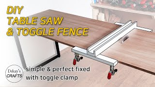 Table Saw & Toggle Fence│DIY 쉽고 편한 목공 테이블쏘 & 조기대 만들기