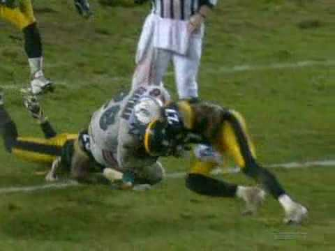 Dolphins vs Steelers 2007 Highlights Bad Weather Game 30