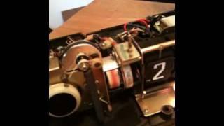 Vintage flip clock radio Panasonic RC-7589 Planada tour