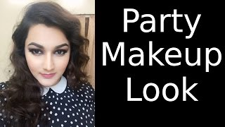 Makeup Tutorial Complete Party Look with Golden Black Smokey Eyes Thumbnail