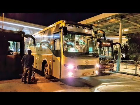 KSRTC FlyBus Departing From Bengaluru Airport | Volvo B9R With Engine Sound | KIA | #RCBuses | India