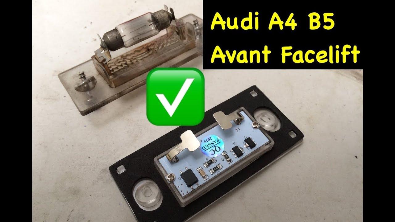 18 SMD LED Kennzeichenbeleuchtung Kennzeichenleuchte Audi A4 B5 E-Prüfzeichen