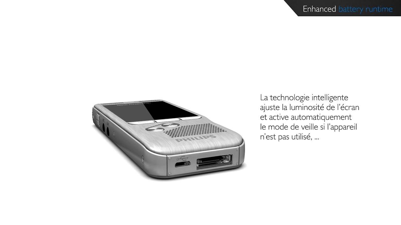 philips digital pocket memo dur e de vie tendue de la batterie youtube. Black Bedroom Furniture Sets. Home Design Ideas