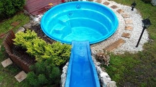 How to make a water slide for less than $100 (please read film description & see new footage)