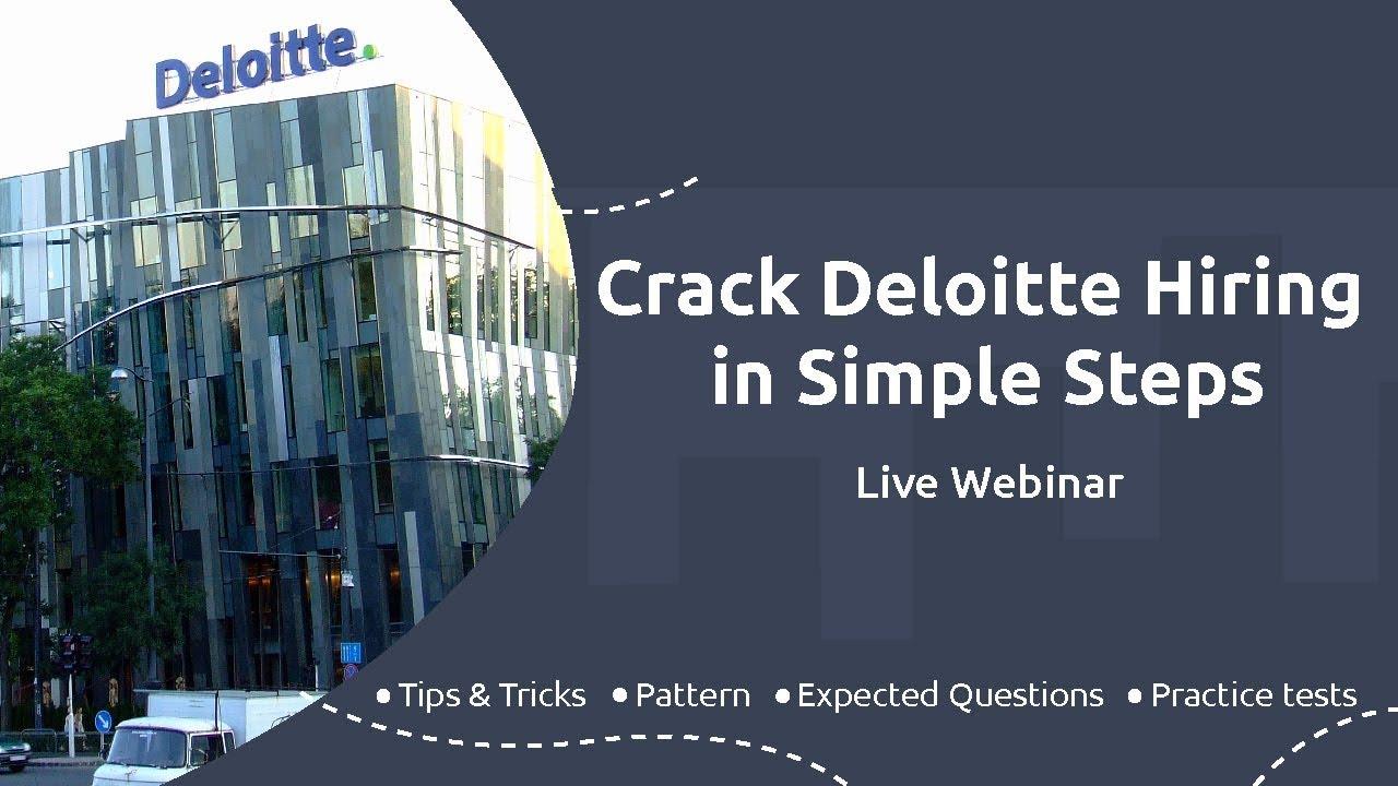 How to crack Deloitte Test?