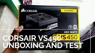 corsair vs 450 unboxing and test