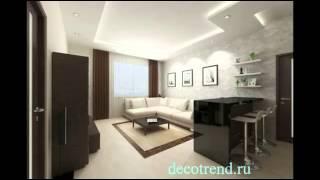 видео Натяжной потолок шоколадного цвета, фото в интерьере различных комнат