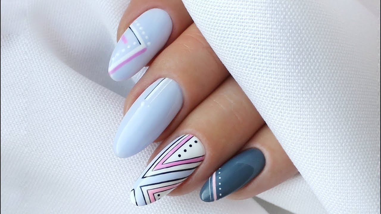 Geometryczne Zdobienia Na Paznokcie Geometric Nail Designs