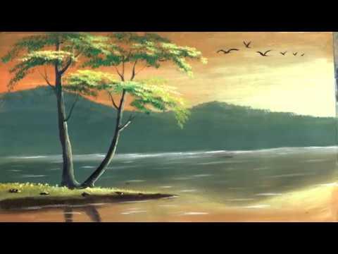 Landscape Painting Tutorial   How to Paint a Cute Landscape