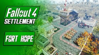 Huge Military Training Outpost - Fort Hope - Fallout 4 Mods - Player Home Settlement