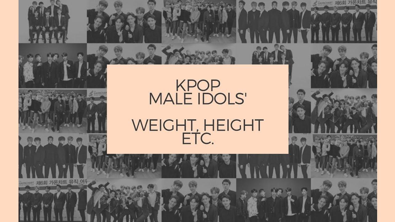 KPop Male Idols' Weight, Height Etc