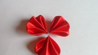 Мастер класс круглый лепесток веером ,Канзаши kanzashi petals