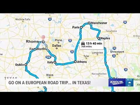 Map Of Texas Over Europe.Go On A European Road Trip In Texas Youtube