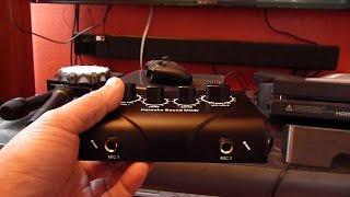 Simple Inexpensive Karaoke System Using Mixer Chromecast Wireless Microphones Soundbar
