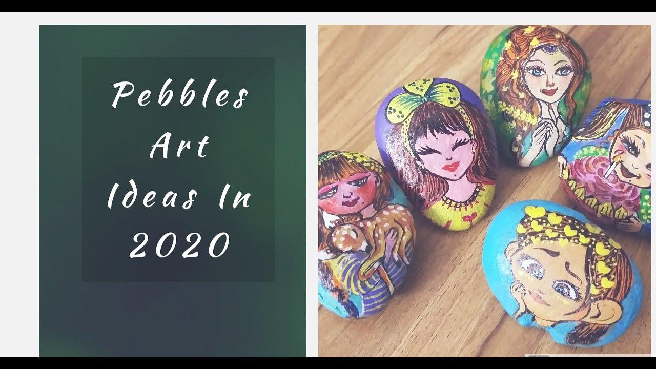 Dyi Pebble Art Easy Rock Painting Ideas Stone Painting Rock Painting How To Paint On Pebble Youtube