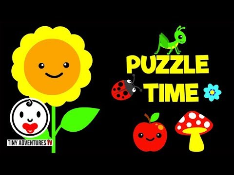 Baby Sensory | Puzzle Time - In The Garden (Visual Stimulation for Babies)