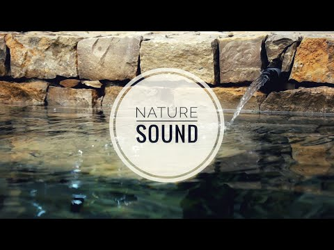 Relaxing water sounds for learning, creek, fountain, brook, soft spa music (4 hours)