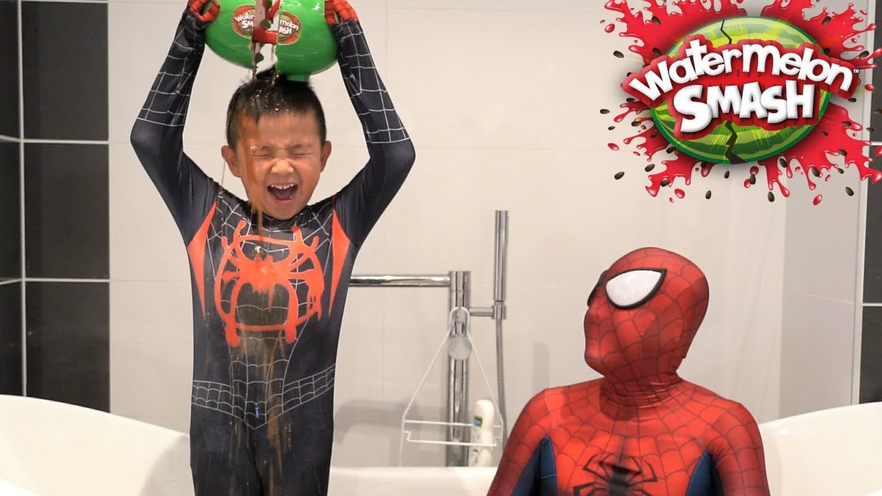 Spider-Man Watermelon SMASH Challenge Kids Fun Games With CKN Toys