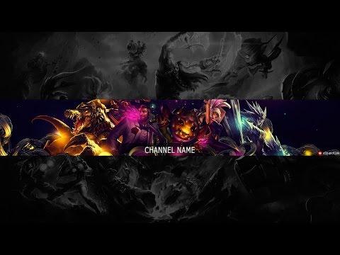 Speed Art - Free Youtube Channel Art / Banner #8 (League Of Legends)