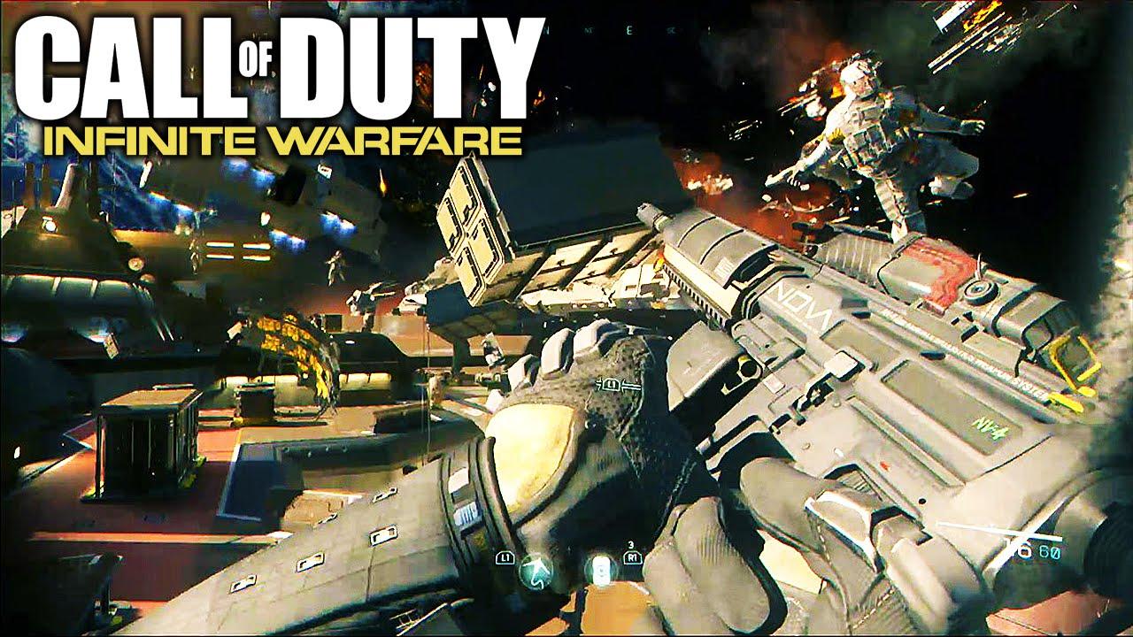 Call of duty infinite warfare ship assault gameplay campaign trailer chaos youtube - Infinite warfare ship assault ...