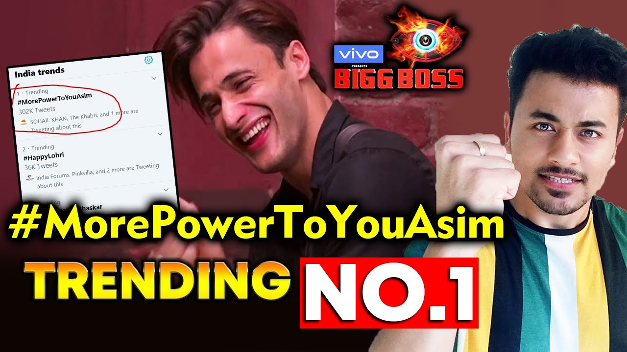 Bigg Boss 13 Asim Riaz Fan S Trend Morepowertoyouasim No 1 Bb 13 Video